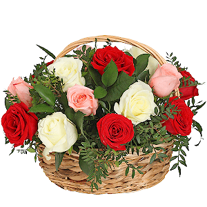 """Корзина цветов Композиция """"Соцветие"""""""