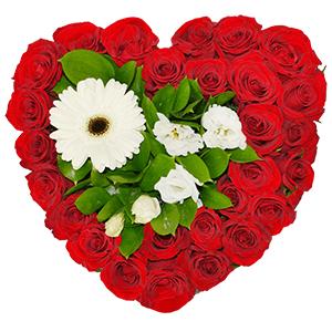 Цветочное сердце +30% цветов с доставкой в Ивантеевке