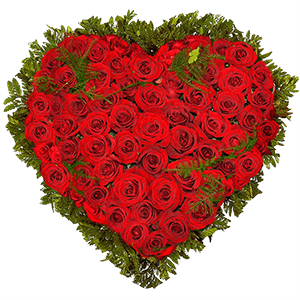 Цветы на 14 февраля - Сердце из роз
