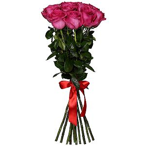 Букет из 11 розовых роз - премиум
