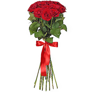 Букет из  красных роз - премиум